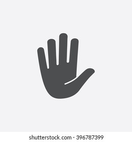 Stop hand Icon Vector. Flat symbol