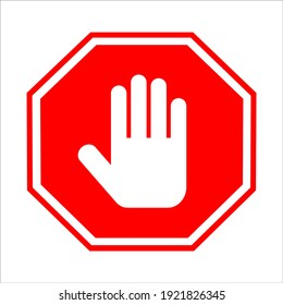Stop hand. prohibition sign. Vector eps 10