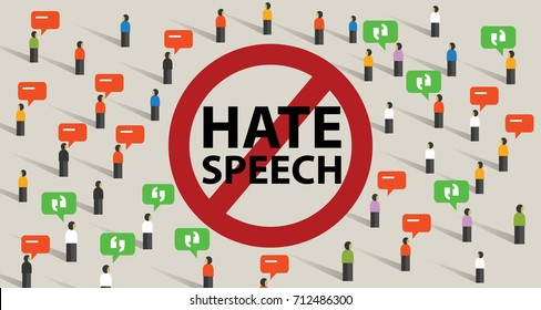 stop hate speech conflict violence start from comments aggressive communication by crowd