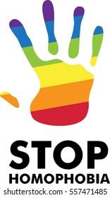 Stop homophobia icon, symbol, sign, flat, set, line, vector, gay, love