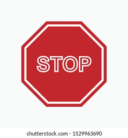 Stop Icon - Prohibition Vector, Sign and Symbol for Design, Presentation, Website or Apps Elements.