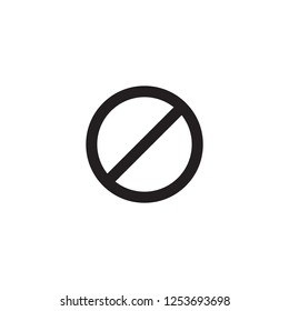 Stop, icon vector. Illustration red warning symbol. Prohibition.