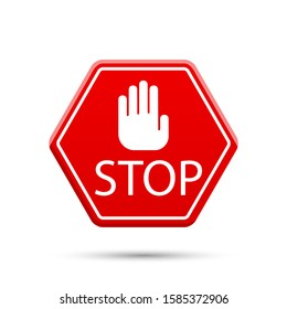 Stop icons. Graphic template. Vector background
