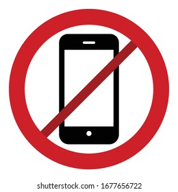 Stop Mobile phone Line style Vector icon which can easily modify or edit