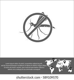 Stop mosquito vector  icon.