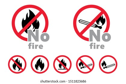 Stop no not fire open flame No ban sign vector icon icons sign signs fun funny danger warning attention beware prohibition forbid Caution no entry zone area No access smoking