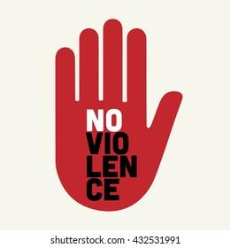 stop no violence illustration.