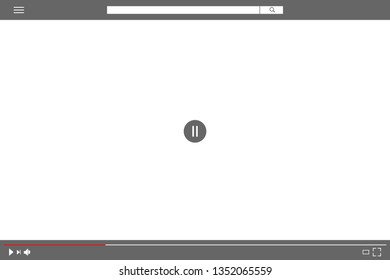Stop play video sign vector