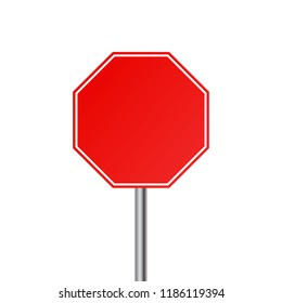 Blank Stop Sign Images, Stock Photos & Vectors   Shutterstock