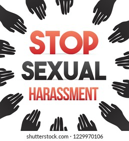 Stop Sexual Harassment Concept