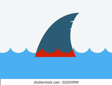 Stop shark finning.Vector symbol of global problem