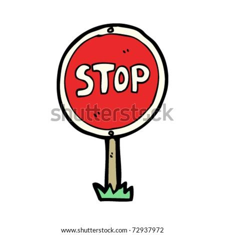 Stop Sign Cartoon Stock Vector Royalty Free 72937972 Shutterstock