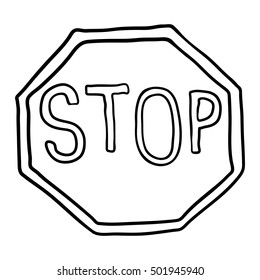 stop sign doodle