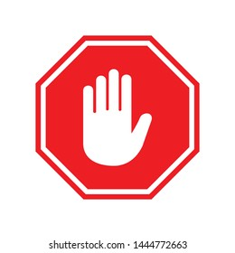 stop sign icon vector symbol
