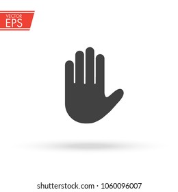 Stop sign push hand. Do not enter stop symbol with hand. Silhouette of human open palm. Hand gesture . Stop symbol for your web site design, logo, app, UI. Vector illustration, EPS10.