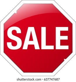 "Stop sign with ""SALE"" instead of ""STOP"""