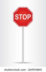 Stop sign. (Traffic stop sign)
