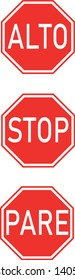 Stop Signs English and Spanish