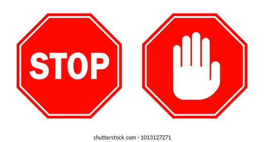Stop Sign Illustration Stock Vectors, Images & Vector Art ...