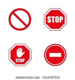 Stop signs vector