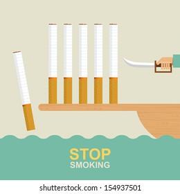 Stop smoking, Idea concept