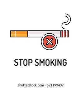 STOP SMOKING Line icon
