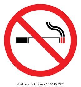 stop smoking logo no smoking sign symbol, black white cigarette