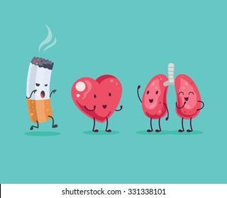 Stop Smoking. Vector cartoon illustration
