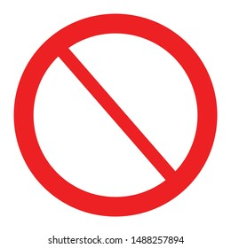 stop symbol icon . prohibition vector isolated