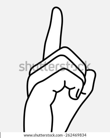 Stop Talking Finger Up Isolated Vector Stock Vector Royalty Free