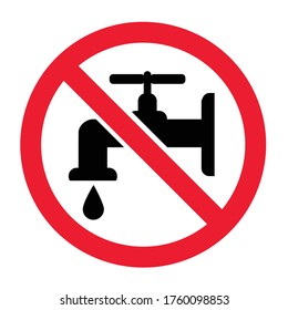 Stop tap water drops sign World water day Save the water H2O signs Vector symbol falling drops icon March drop icons Blue rain pictogram  Caution No Ban stop aqua co2 emission doodle Climate earth