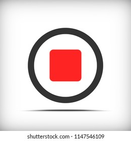 Stop video button icon - vector