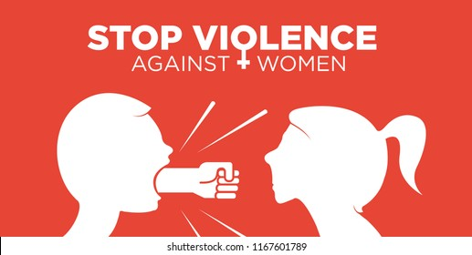 Stop violence against women concept - fist as symbol of violence