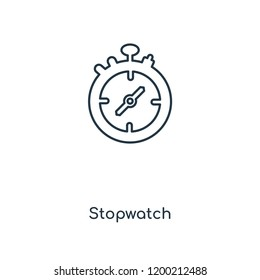 Stopwatch concept line icon. Linear Stopwatch concept outline symbol design. This simple element illustration can be used for web and mobile UI/UX.