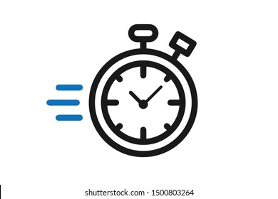 Stopwatch count fast icon vector