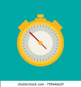 Stopwatch. Flat icon vector