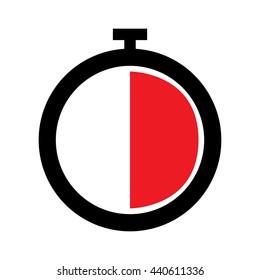 Stopwatch Icon - Half