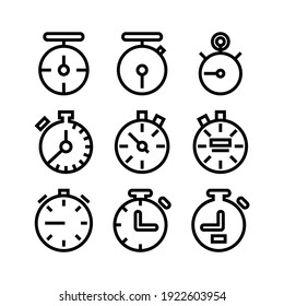 stopwatch icon or logo isolated sign symbol vector illustration - Collection of high quality black style vector icons