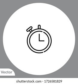 Stopwatch icon sign vector,Symbol, logo illustration for web and mobile