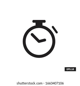 Stopwatch Icon, Stopwatch Sign/Symbol Vector