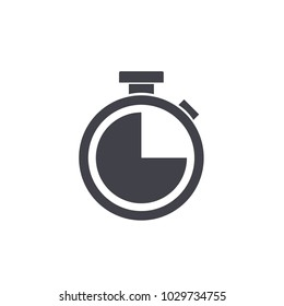 stopwatch icon vector Eps10