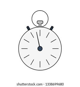 Stopwatch icon. Vector illustration.