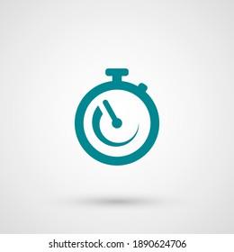 stopwatch icon. Vector illustration EPS 10.