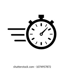stopwatch icon, vector illustration. timer icon