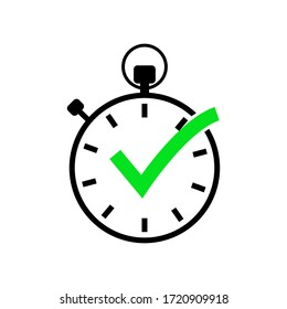 Stopwatch icon vector on white background