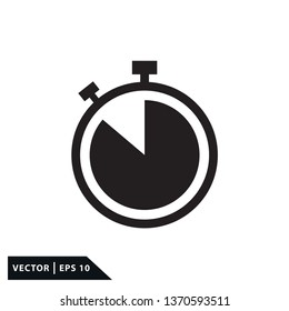 Stopwatch icon vector style flat trendy