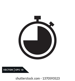 Stopwatch icon vector style flat trendy
