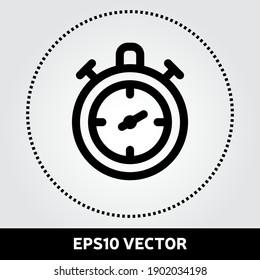 Stopwatch icon vector. Teamwork icon in flat design. Eps 10 vector illustration.