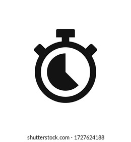 Stopwatch icon vector. Timer sign
