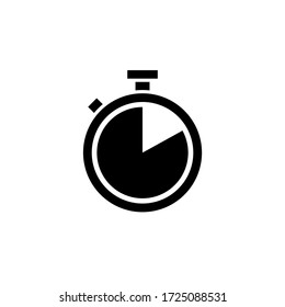 Stopwatch icon vector. Timer icon symbol illustration